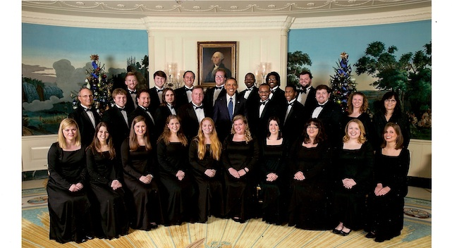 President Obama and Ole Miss Choir Photo