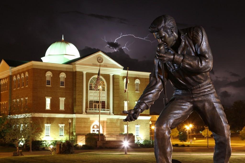 Bill Beckwith's Bronze Elvis in Tupelo