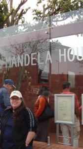 Susan M. Glisson outside the Mandela House