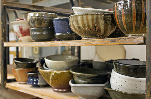 Empty Bowls is an annual luncheon that benefits Oxford's Pantry. Admission is $15 and includes a bottle of water, bread and soup served in a one-of-a-kind bowl. Photo: Virginia England/The Daily Mississippian.
