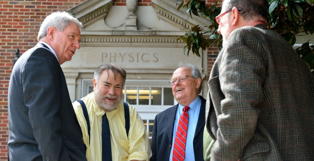 From left: Chancellor Jones, Dr. Summers, Dr. Reidy, and Dr. Cremaldi