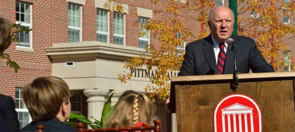 A dedication ceremony at 1:30 p.m. Nov. 7 will honor Scarlotte and Crymes Pittman of Jackson with the naming of Pittman Hall, a new residence hall at the University of Mississippi.