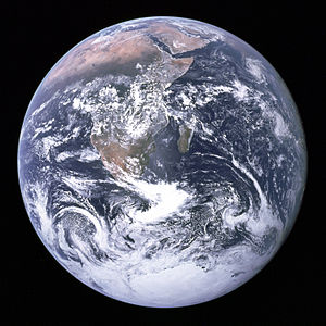 The Blue Marble is a famous photograph of the Earth, taken on December 7, 1972, by the crew of the Apollo 17 spacecraft,