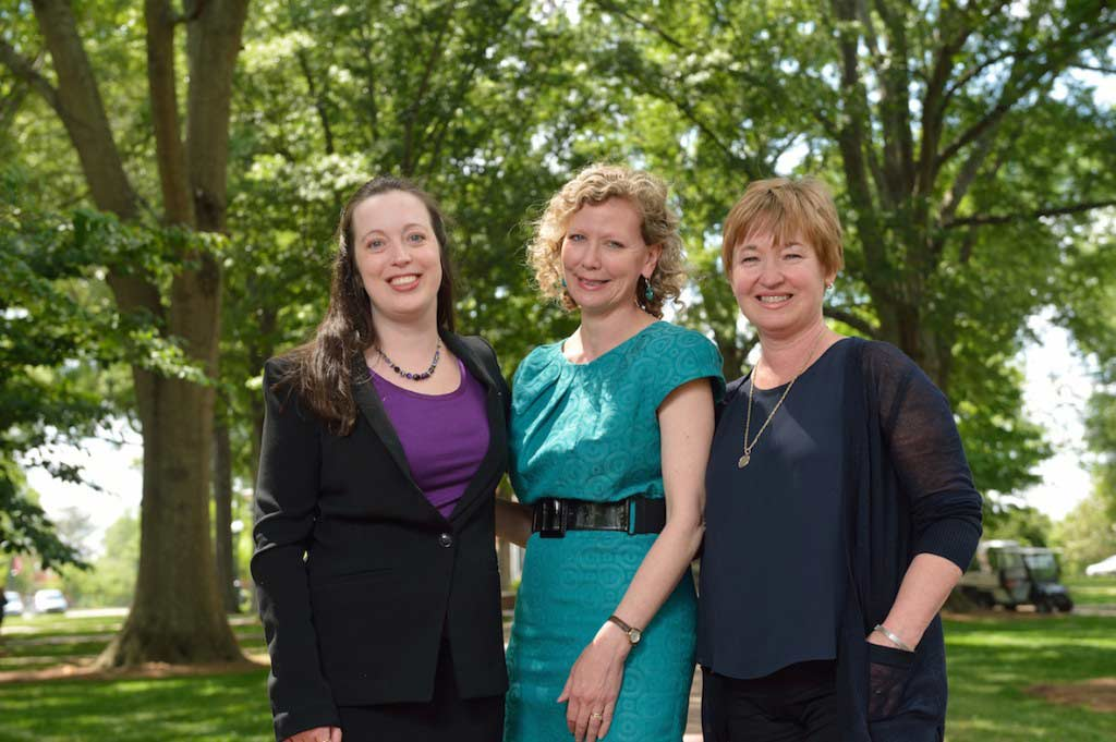 Recipients of the 2015 College of Liberal Arts Teaching Awards: Outstanding Teacher of Year: Kathryn McKee, Cora Lee Graham Outstanding Teacher of Freshmen: Hilary Becker, Outstanding Instructor of Year: Karen Forgette | Photo by Kevin Bain/UM Communications