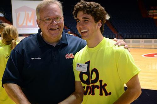 VISTA member Doug Odom  (right) participates in the Big Event