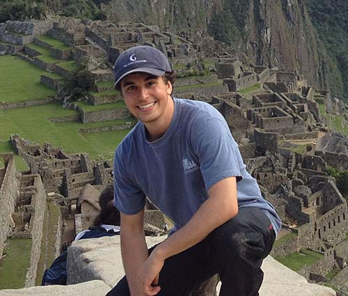 Douglas Odom on the Inca Trail in Peru.
