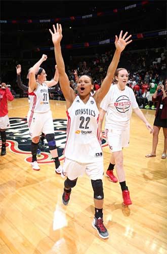 Armintie Price Herrington photo courtesy of the Washington Mystics/WNBA
