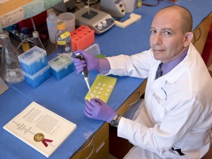 Dr. Wael ElShamy, director of the UMMC Cancer Institute's Molecular Cancer Therapeutics Program, has received a patent on a method to diagnose and treat several cancer types and subtypes. The method may lead to the first targeted therapy for triple negative breast cancer and add to therapies for other cancers.