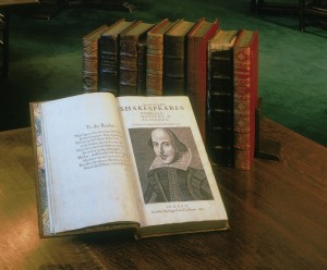 Shakespeare's First Folio was published in 1623. Only 233 copies are known to exist, and one of those will be on display at the Ford Center through May 1.