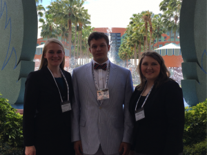 The UM Archaeology Ethics Bowl team is made up of juniors Alicia Dixon (left), Zachary Creel and Libby Tyson.