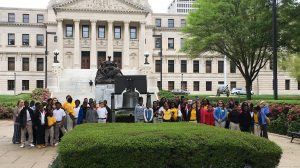 The UM McLean Institute and Department of Political Science collaborated to take fifth-grade students from Charleston Middle School on a field trip to the Capitol in Jackson during the legislative session.