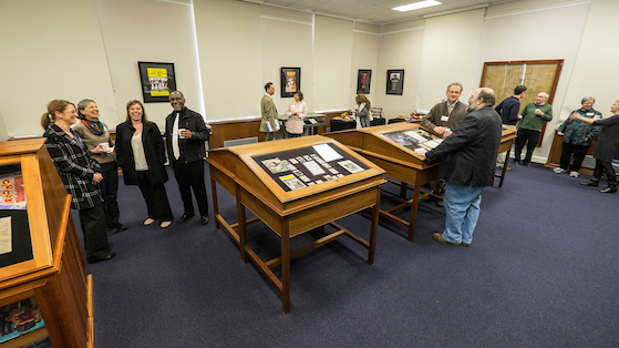 The J.D. Williams Library features a new exhibit available to the public in their Department of Archives and Special Collections. Photo by Robert Jordan/Ole Miss Communications