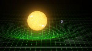 Massive bodies warp space-time. Image Credit: T. Pyle/Caltech/MIT/LIGO Lab