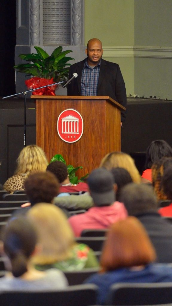 Acclaimed author Kiese Laymon is one of the newest hires in the MFA in Creative Writing Program. Photo by Thomas Graning/Ole Miss Communications