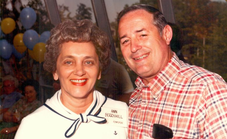 A new scholarship endowment, named in memory of Ann Berryhill (at left with husband Farrell), will give full-time entering freshmen from Pontotoc County financial assistance.