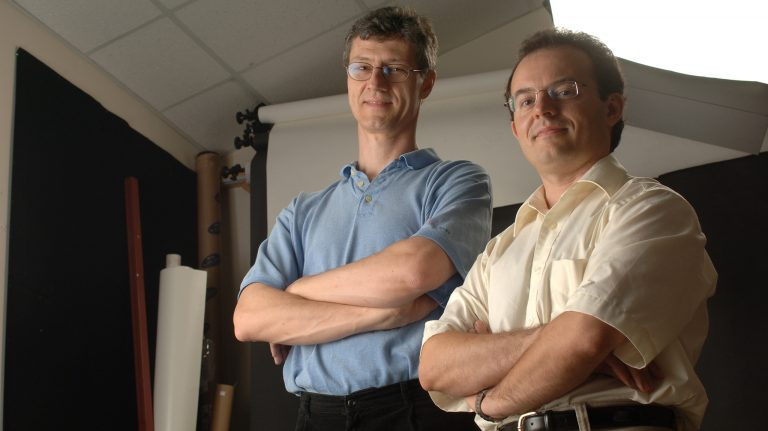Luca Bombelli (left) and Marco Cavaglia are members of the Ole Miss Gravitational, Astrophysical and Theoretical Physics Group. Photo by Robert Jordan/Ole Miss Communications