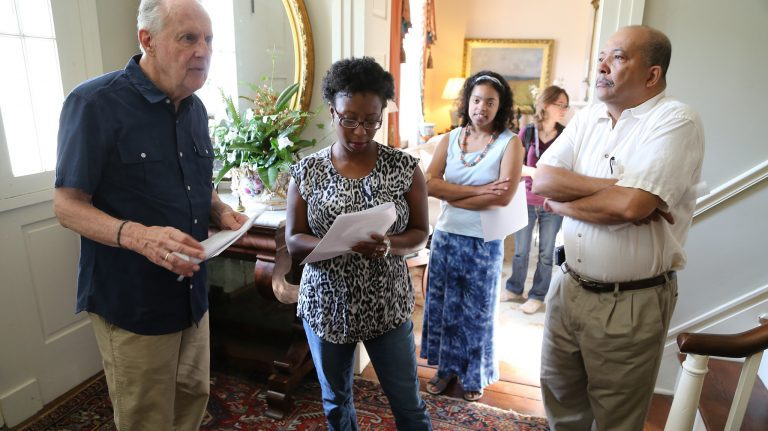 UM anthropology and Southern studies professor Jodi Skipper (center) works with the 'Behind the Big House' program in Holly Springs. Submitted photo