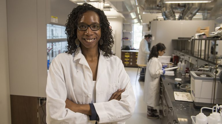 Davita Watkins is the university's fifth chemistry professor – and first female chemistry professor – to win a National Science Foundation Career Award for her work. Photo by Thomas Graning/Ole Miss Communications