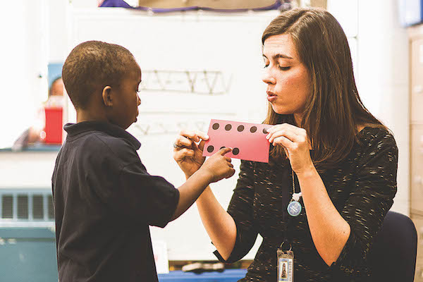 Ole Miss School of Education graduate Emily Ragland has been honored with the 2017 Harriett Ball Excellence in Teaching Award. Ragland won $10,000 for exemplary work in the classroom. Raland teaches kindergarten at KIPP Memphis Collegiate Elementary School in Memphis, Tenn. (Photo/Emily Hoard)