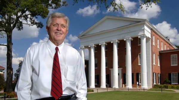 UM Chancellor Emeritus Robert Khayat will receive the 2017 Mississippi Association of Partners in Education Winter-Reed Partnership Award Tuesday in Jackson. The award is named in honor of former Gov. William Winter and the late Tupelo businessman Jack Reed Sr. for their lifelong contributions to education. Photo by Robert Jordan/Ole Miss Communications