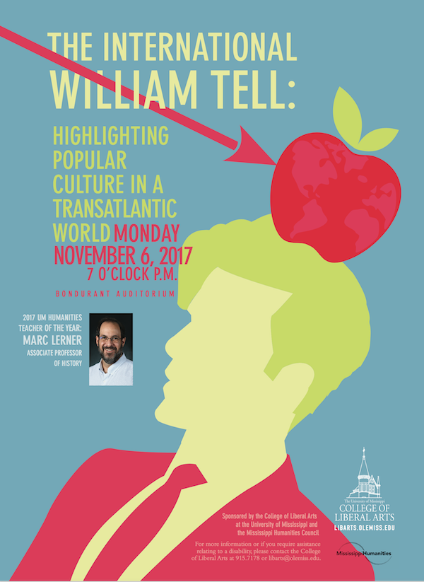 2017 humanities lecture poster