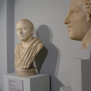 Several marble busts are among the more than 2,000 items in the Robinson Greek and Roman Antiquities Collection in the University Museum. Submitted photo