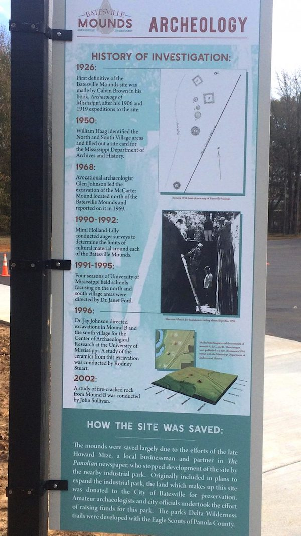 UM graduate student Nikki Mattson worked as a consultant on signage to help explain the significance of the Batesville Mounds site to visitors. Submitted photo