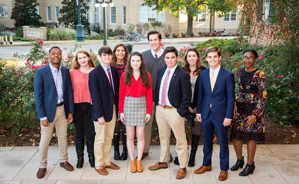 Stamps freshmen 2017 are, from left: Tyler Yarbrough, Madeline Cook, Robert Wasson, Tori Gallegos, Eleanor Schmid, Matthew Travers, J.R. Riojas, Kennedy Cohn, Harrison McKinnis and Chinwe Udemgba.