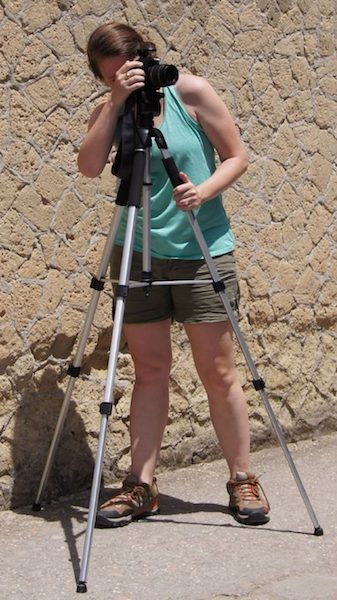 UM classics professor Jacqueline DiBiasie-Sammons takes a photo in Herculaneum, Italy, while working on The Ancient Graffiti Project. Submitted photo
