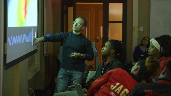 Marco Cavaglia, a UM professor of physics and astronomy, spends his spring break educating Mississippi high school students about physics as part of a Global Teaching Project program. Ph