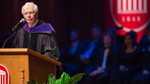 Former U.S. Sen. Thad Cochran is donating his papers to the University of Mississippi's Modern Political Archives. Cochran, an alumnus and supporter of the university, is shown speaking at Chancellor Jeffrey Vitter's investiture in 2016. Photo by Kevin Bain/Communications
