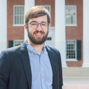 Andrew Hayes, an international studies and economics graduate, will teach at a public school in Madrid, Spain. Photo by Kevin Bain/ Communications