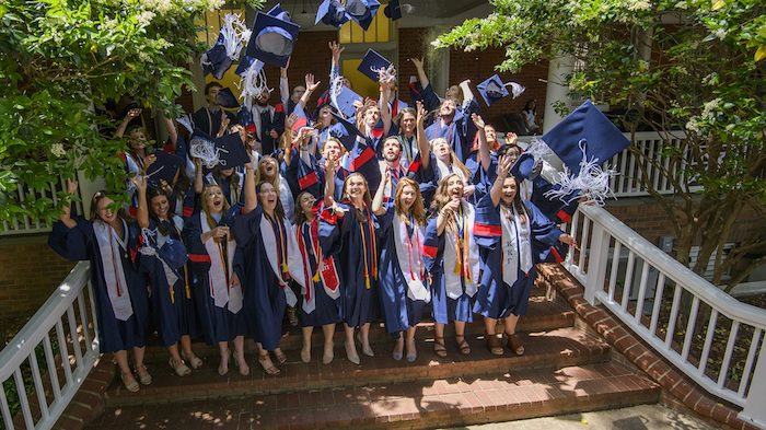 A degree from the Croft Institute for International Studies serves as a passport into the world economy. Here, the 2018 class celebrates its graduation. Photo by Thomas Graning/Ole Miss Digital Imaging Services