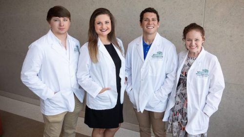 University of Mississippi students (from left) Steven Smith, Katelynn McGowen, Conner Ball and Megan Buchanan have been selected to participate in the undergraduate portion of the Mississippi Rural Physicians Scholarship Program.