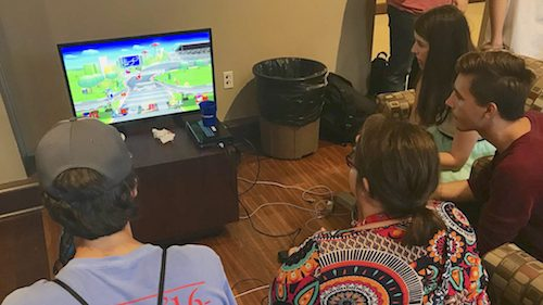 Esport players compete in a number of games, with some of the most popular being 'Call of Duty,' 'Counter-Strike: Global Offensive,' 'League of Legends' and 'Overwatch.' Here, Ole Miss students play 'Super Smash Bros.' Photo by Shea Stewart/