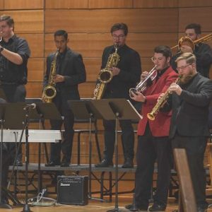 Duly Noted, the house band for the Living Music Resource, will perform Thursday evening as part of the cabaret competition at Nutt Auditorium. Photo by Thomas Graning