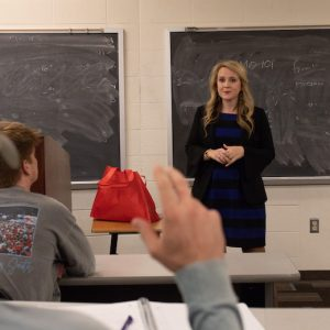 Emelia Nordan speaking to the class. Submitted photo