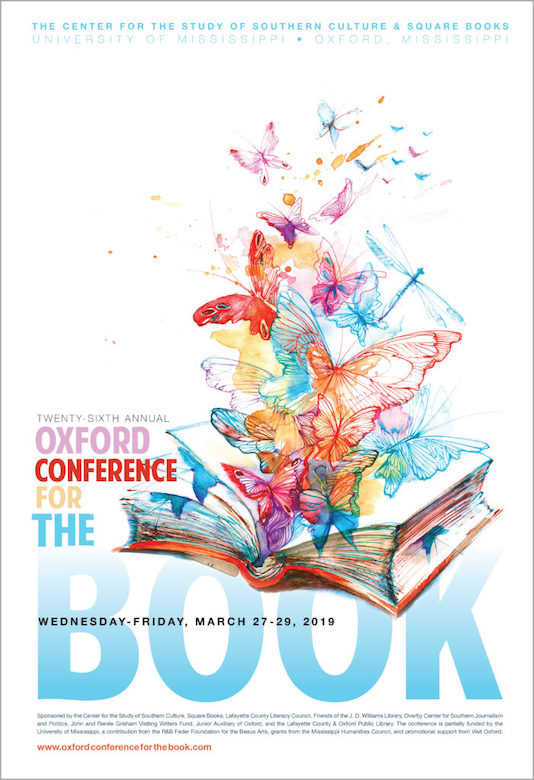 The 26th annual Oxford Conference for the Book is set for March 27-29 at the University of Mississippi. Courtesy image.