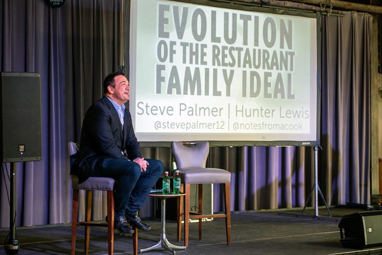 Steve Palmer leads a presentation.
