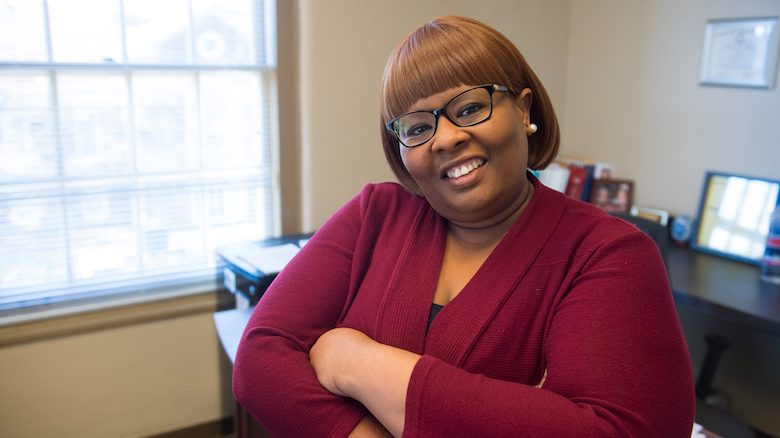 Jackie Certion, UM assistant director of Foundations for Academic Success Track, has been honored with a Harriet Tubman Award for her work with students of color.