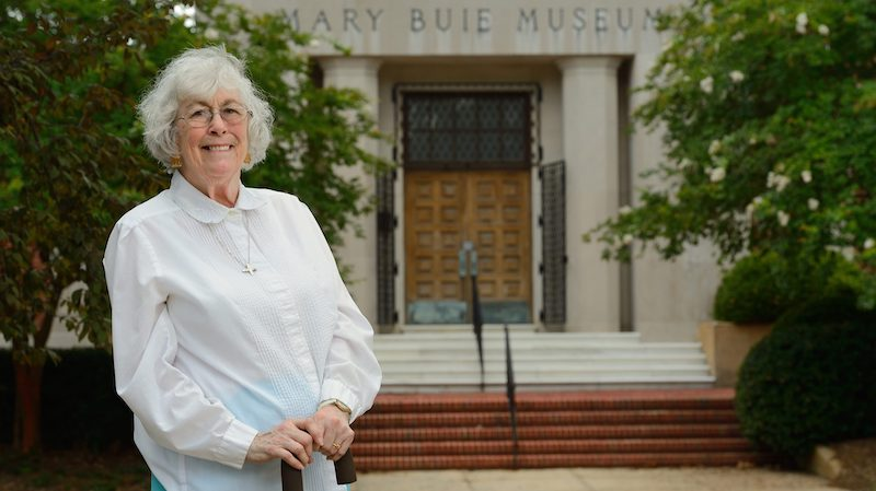 Lucy Turnbull, a longtime UM professor of classical archaeology, helped establish the University Museum and served as its director from 1983 to 1990. Photo by Robert Jordan