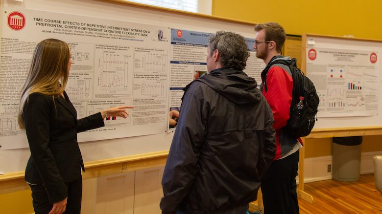 UM graduate students discuss their work and results at the ninth annual Research Symposium, which featured topics ranging from termite species in the southern Appalachians to food security among rural Mississippi parents.
