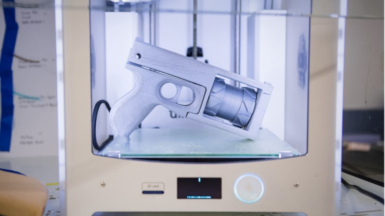 The world's first functional 3D-printed firearm was designed in 2013. The guns are 3D-printed with polymers from digital files and are untraceable since they have no serial numbers. Photo by Megan Wolfe/Ole Miss