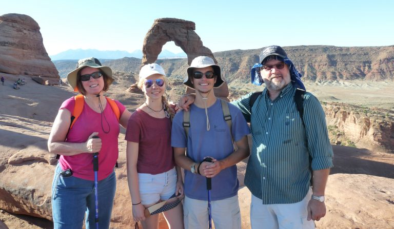 The Eassons – (from left) Darlene, Carina, Lee and Greg – take in the sights on a trip through the American West.