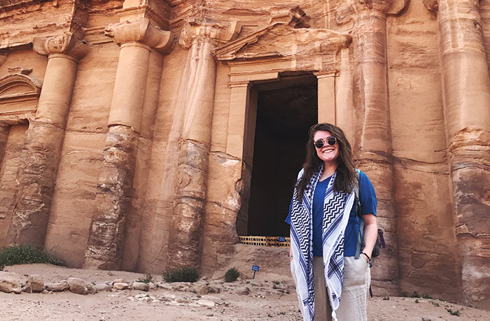 Lauren Burns in Jordan